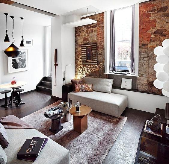 Фотография: Гостиная в стиле Скандинавский, Советы, как зонировать студию, Марина Лаптева – фото на INMYROOM