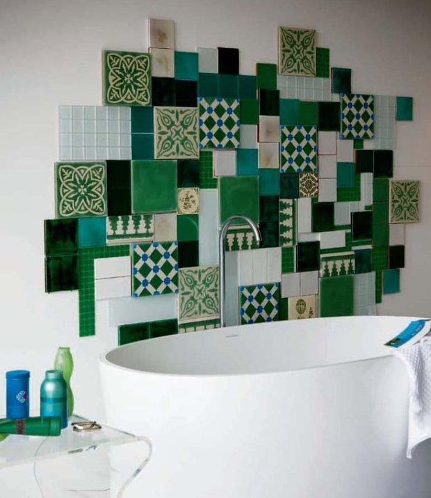 Фотография: Ванная в стиле Эклектика, Декор интерьера, Текстиль, Декор, Декор дома, Пэчворк – фото на INMYROOM