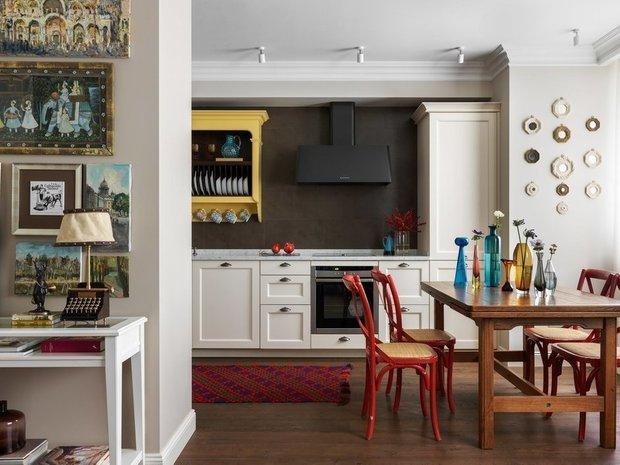 Фотография: Кухня и столовая в стиле Эклектика, Гид, ДелоБанк, банк для ип, банк для предпринимателей, квартиры дизайнеров – фото на INMYROOM