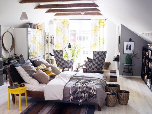 Фотография: Спальня в стиле Современный, Текстиль, Индустрия, Новости, IKEA, Ткани, Мягкая мебель, Светильники, Ваза, Стокгольм – фото на INMYROOM