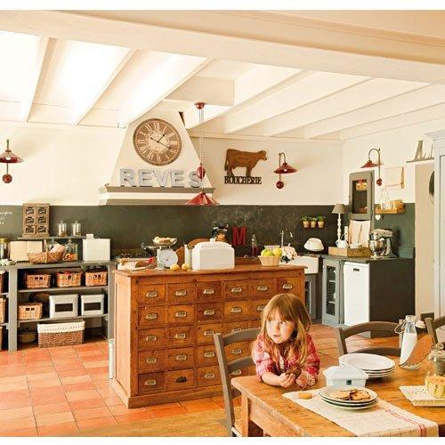 Фотография: Кухня и столовая в стиле Прованс и Кантри, Современный, Декор интерьера, Часы, Декор дома – фото на INMYROOM