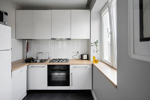 Фотография: Кухня и столовая в стиле Минимализм, Перепланировка, Finish – фото на INMYROOM