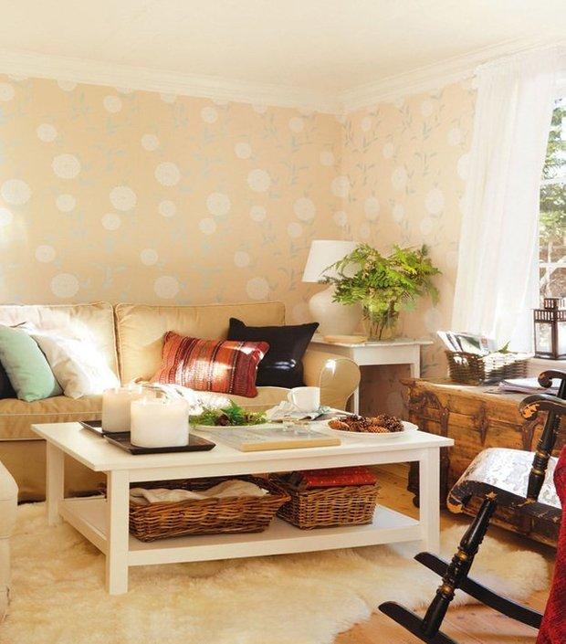 Фотография: Гостиная в стиле Скандинавский, Прованс и Кантри, Дом, Дома и квартиры, IKEA, Дача – фото на INMYROOM