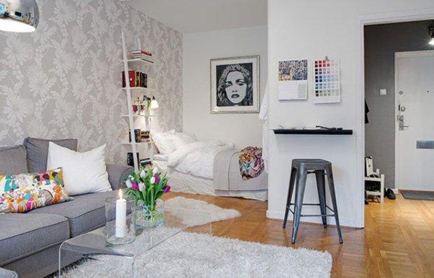 Фотография: Гостиная в стиле Скандинавский, Декор интерьера, Малогабаритная квартира, Декор дома – фото на INMYROOM