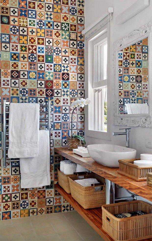 Фотография: Ванная в стиле Прованс и Кантри, Декор интерьера, Текстиль, Декор, Декор дома, Пэчворк – фото на INMYROOM