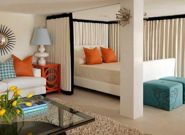 Фотография: Спальня в стиле Эклектика, Малогабаритная квартира, Квартира, Дома и квартиры – фото на INMYROOM