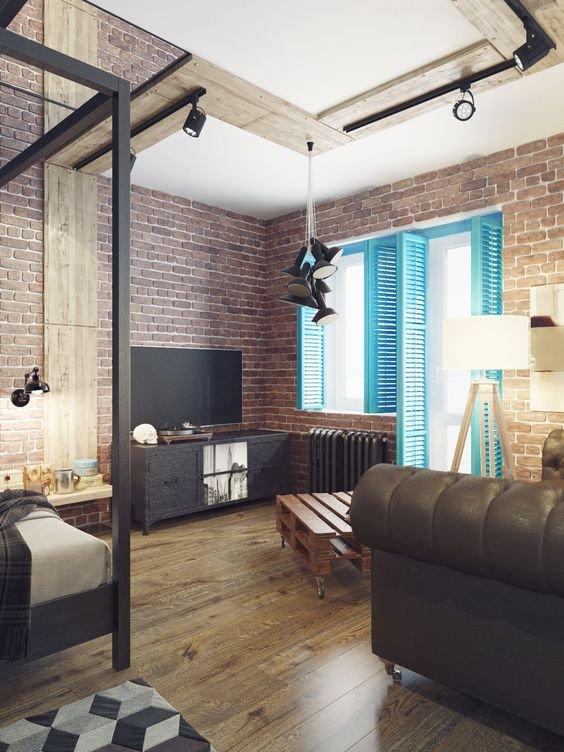 Фотография: Гостиная в стиле Лофт, Советы, как зонировать студию, Марина Лаптева – фото на INMYROOM