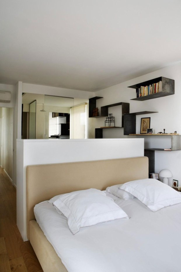 Фотография: Спальня в стиле Лофт, Современный, Эклектика, Квартира, Дома и квартиры, Минимализм – фото на INMYROOM