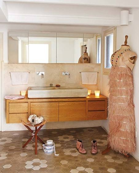 Фотография: Ванная в стиле Прованс и Кантри, Декор интерьера, Квартира, Дома и квартиры, Барселона, Модерн – фото на InMyRoom.ru