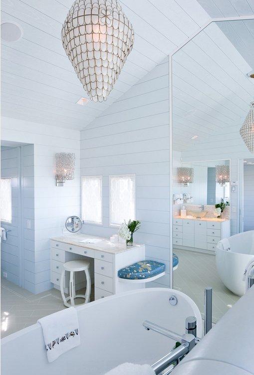 Фотография: Ванная в стиле Прованс и Кантри, Декор интерьера, Дизайн интерьера, Цвет в интерьере – фото на InMyRoom.ru