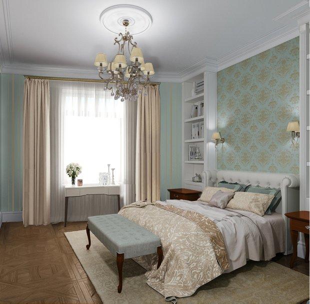 Фотография: Спальня в стиле Классический, Советы, Потолок, Ольга Кондратова – фото на INMYROOM