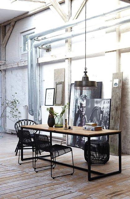 Фотография: Кухня и столовая в стиле Лофт, Стиль жизни, Советы, Стол – фото на INMYROOM