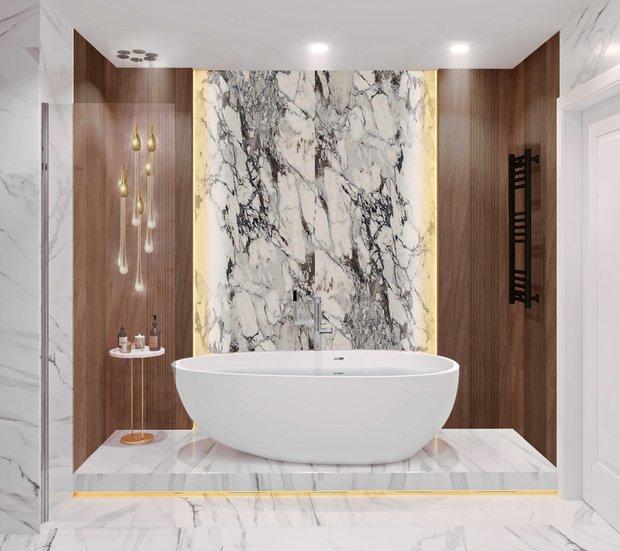 Фотография: Ванная в стиле Современный, Классический, Квартира, Проект недели, Москва, 3 комнаты, 60-90 метров, Александра Гартке – фото на INMYROOM