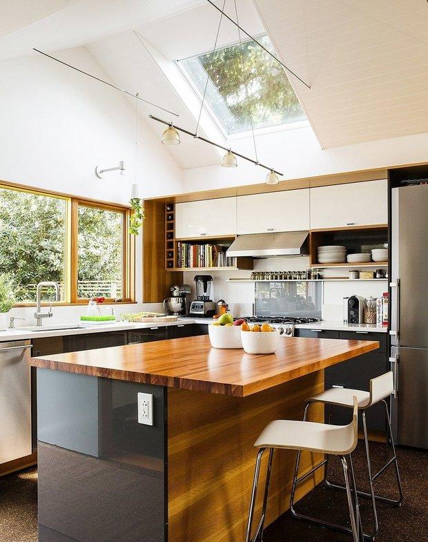 Фотография: Кухня и столовая в стиле Скандинавский, Современный, Дача, Дом и дача – фото на INMYROOM