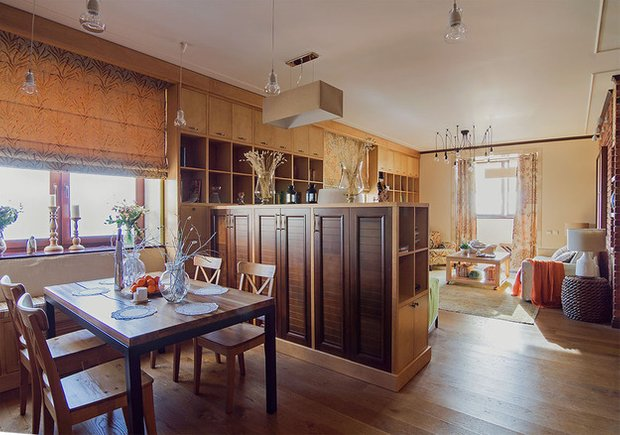 Фотография: Кухня и столовая в стиле Лофт, Декор интерьера, Квартира, Дома и квартиры, Илья Хомяков, Стена – фото на INMYROOM