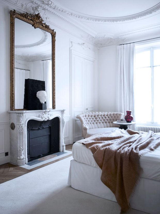 Фотография: Спальня в стиле Классический, Скандинавский, Современный, Квартира, Дома и квартиры, Международная Школа Дизайна – фото на INMYROOM