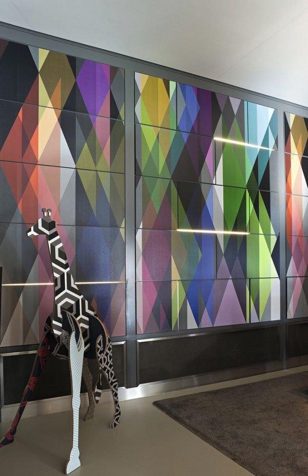 Фотография: Декор в стиле Эклектика, Индустрия, Новости, Обои, Геометрия в интерьере – фото на INMYROOM