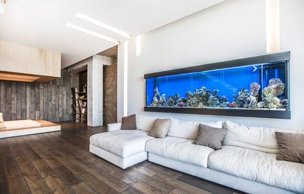 Фотография: Гостиная в стиле Лофт, Современный, Интерьер комнат, Картины, Зеркало – фото на INMYROOM