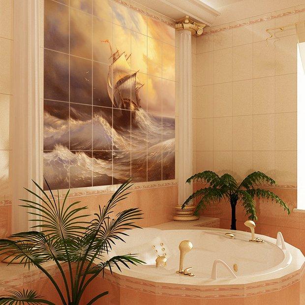 Фотография: Ванная в стиле Классический, Декор интерьера, Декор дома, Плитка, Ремонт на практике – фото на InMyRoom.ru
