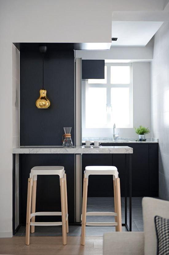 Фотография: Кухня и столовая в стиле Современный, Малогабаритная квартира, Советы, мнение профи – фото на INMYROOM