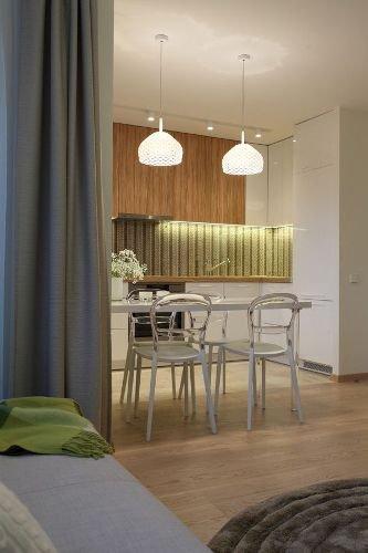 Фотография: Кухня и столовая в стиле Современный, Спальня, Интерьер комнат – фото на INMYROOM