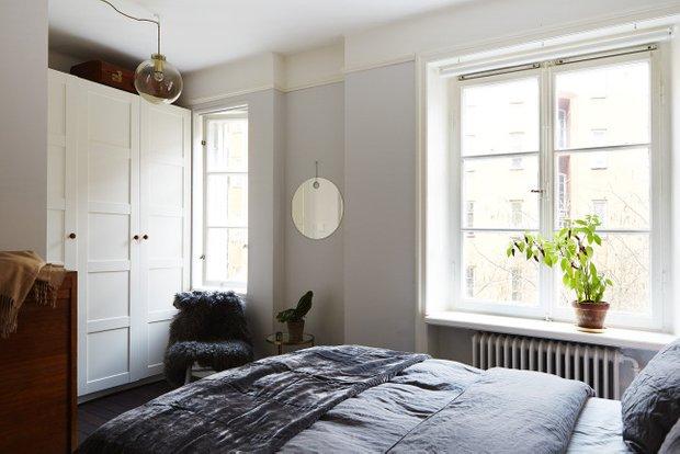 Фотография: Спальня в стиле Скандинавский, Декор интерьера, Малогабаритная квартира, Квартира, Мебель и свет – фото на INMYROOM