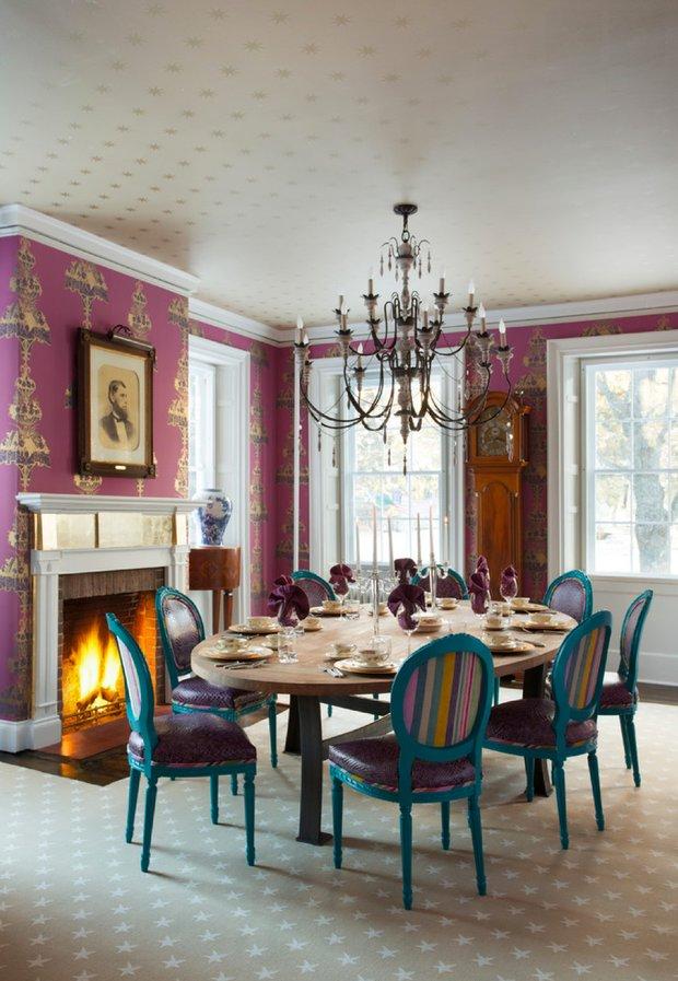 Фотография: Кухня и столовая в стиле Эклектика, Дом, Дома и квартиры, Интерьеры звезд – фото на INMYROOM