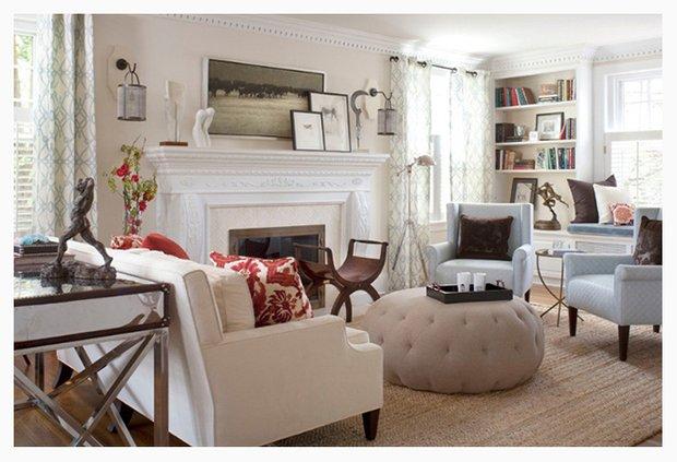 Фотография: Гостиная в стиле Классический, Современный, Декор интерьера, Цвет в интерьере, Индустрия, Новости – фото на INMYROOM