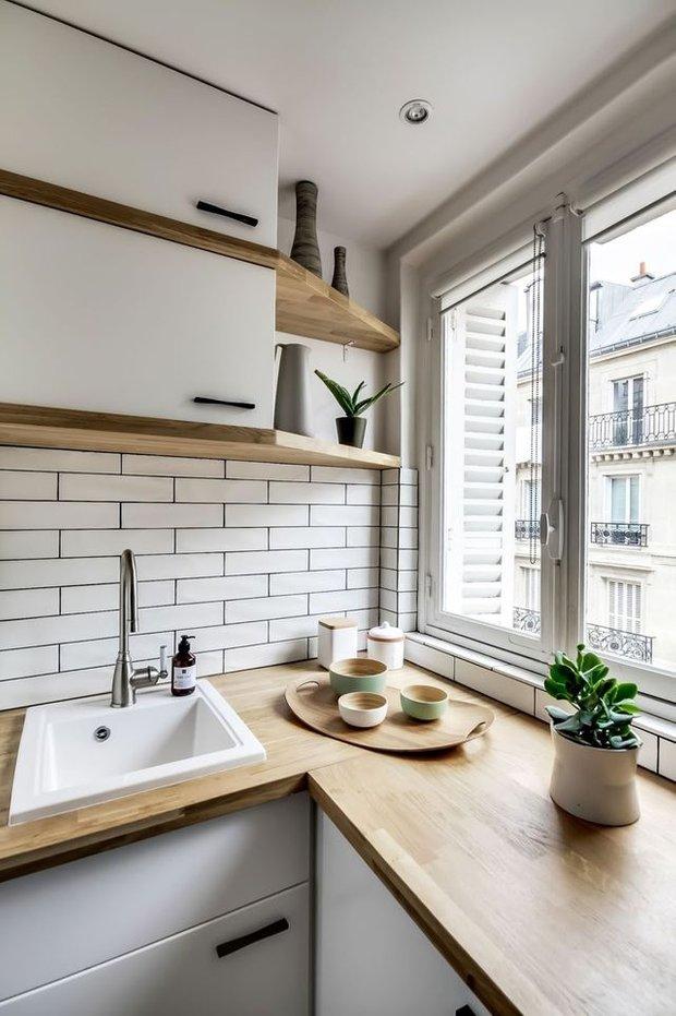 Фотография: Кухня и столовая в стиле Скандинавский, Перепланировка, Bosсh, Finish – фото на INMYROOM