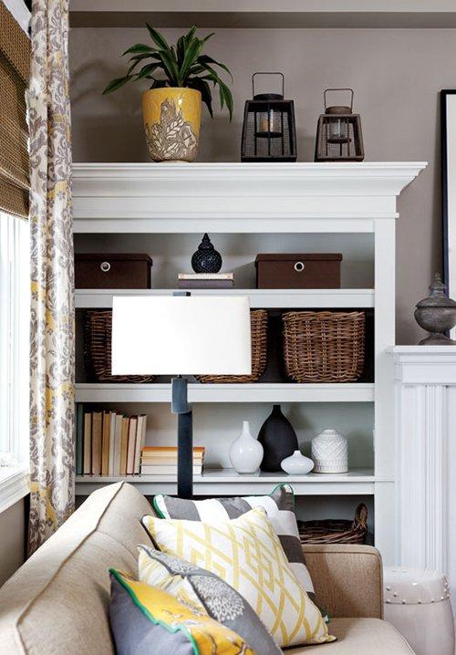 Фотография: Гостиная в стиле Классический, Современный, Декор интерьера, Дом, Цвет в интерьере, Дома и квартиры, Желтый – фото на INMYROOM