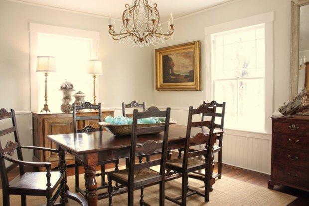Фотография: Кухня и столовая в стиле Классический, Декор интерьера, Мебель и свет, Дача – фото на InMyRoom.ru