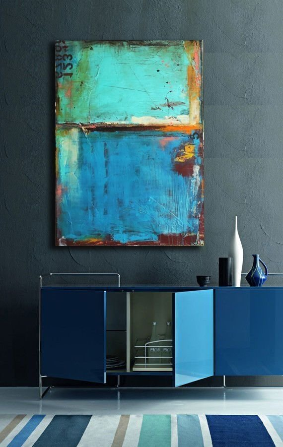 Фотография: Кухня и столовая в стиле Лофт, Декор интерьера, Декор, абстрактная живописть в интерьере, абстрактное искусство в интерьере – фото на InMyRoom.ru