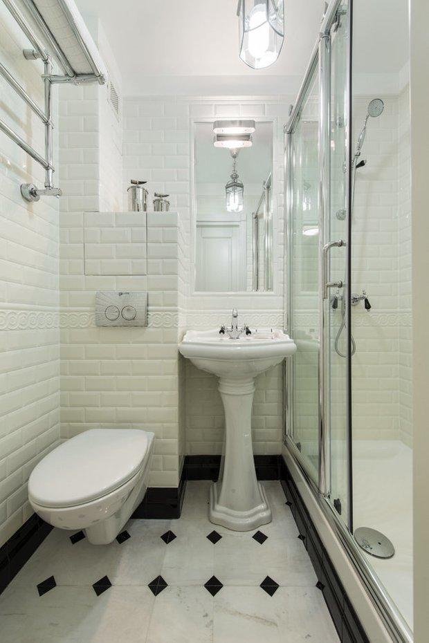 Фотография: Ванная в стиле Скандинавский, Советы, Хрущевка – фото на INMYROOM