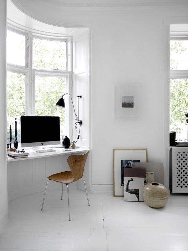 Фотография: Кабинет в стиле Скандинавский, Малогабаритная квартира, Квартира, Советы – фото на INMYROOM