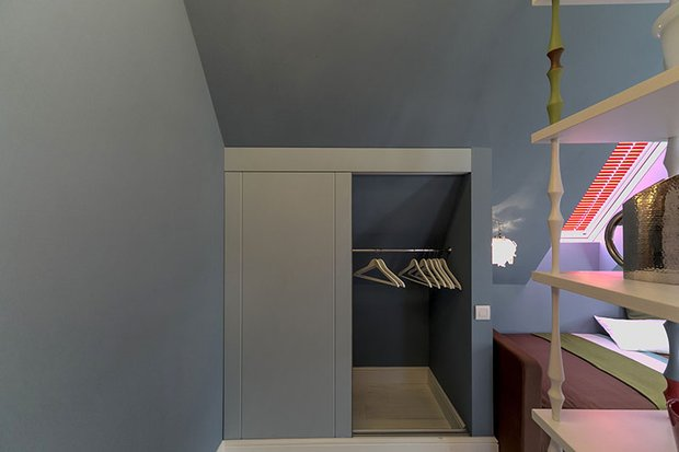 Фотография: Прочее в стиле , Спальня, Лофт, Интерьер комнат, Дача, Дачный ответ, Библиотека, Мансарда – фото на INMYROOM