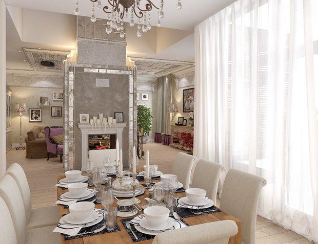 Фотография: Кухня и столовая в стиле Классический, Современный, Дом, Дома и квартиры, Прованс, Проект недели – фото на InMyRoom.ru