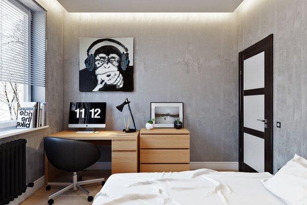 Фотография: Спальня в стиле Лофт, Современный, Квартира, Проект недели – фото на INMYROOM