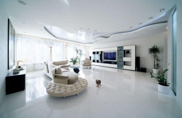 Фотография: Гостиная в стиле Современный, Ремонт на практике, напольное покрытие – фото на INMYROOM