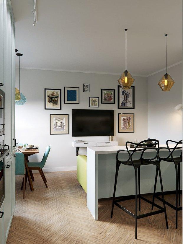 Фотография: Гостиная в стиле Современный, Кухня и столовая, Скандинавский, Декор интерьера, Карта покупок, Никита Зуб – фото на INMYROOM