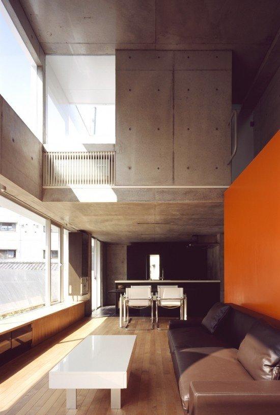 Фотография: Гостиная в стиле Лофт, Современный, Декор интерьера, Дизайн интерьера, Цвет в интерьере, Оранжевый – фото на InMyRoom.ru