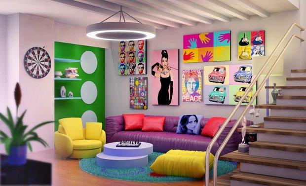 Фотография: Гостиная в стиле Современный, Стиль жизни, Советы, Поп-арт – фото на INMYROOM