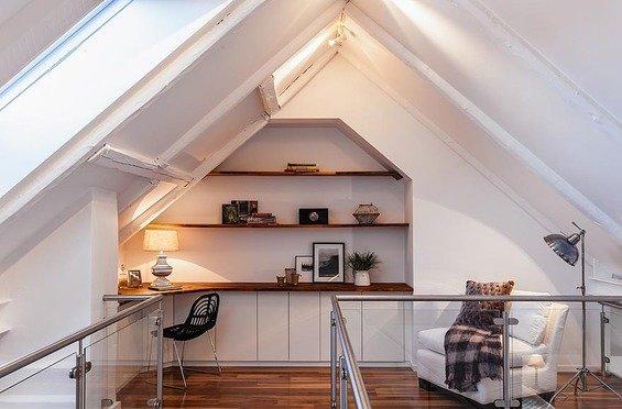Фотография: Кабинет в стиле Скандинавский, Квартира, Дома и квартиры – фото на INMYROOM