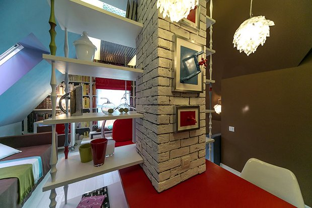 Фотография: Офис в стиле Лофт, Современный, Спальня, Интерьер комнат, Дача, Дачный ответ, Библиотека, Мансарда – фото на INMYROOM
