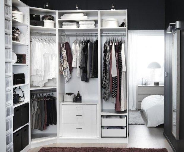 Фотография:  в стиле , Гардеробная, Советы, хранение вещей в квартире, Оксана Пантелеева, планирование шкафа, идеальный шкаф, грамотное хранение вещей и аксессуаров – фото на INMYROOM