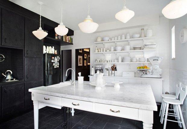 Фотография: Кухня и столовая в стиле Эклектика, Дизайн интерьера, Цвет в интерьере – фото на INMYROOM