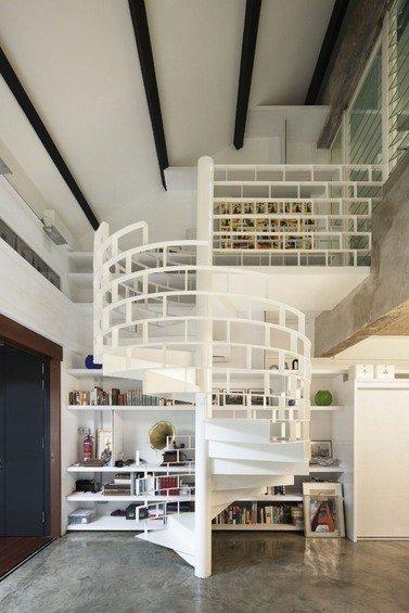 Фотография: Прочее в стиле Лофт, Квартира, Дома и квартиры, Лестница – фото на INMYROOM