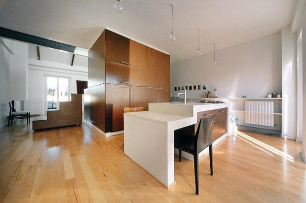 Фотография: Кухня и столовая в стиле Современный, Минимализм, Малогабаритная квартира, Квартира, Дома и квартиры – фото на INMYROOM