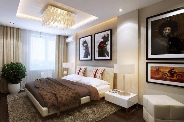 Фотография: Спальня в стиле Современный, Декор интерьера, Мебель и свет – фото на INMYROOM