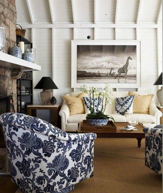 Фотография: Гостиная в стиле Прованс и Кантри, Декор интерьера, Текстиль, Подушки – фото на INMYROOM