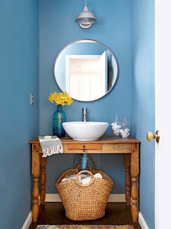 Фотография: Ванная в стиле Прованс и Кантри, Освещение, Декор, Советы, Ремонт на практике – фото на INMYROOM